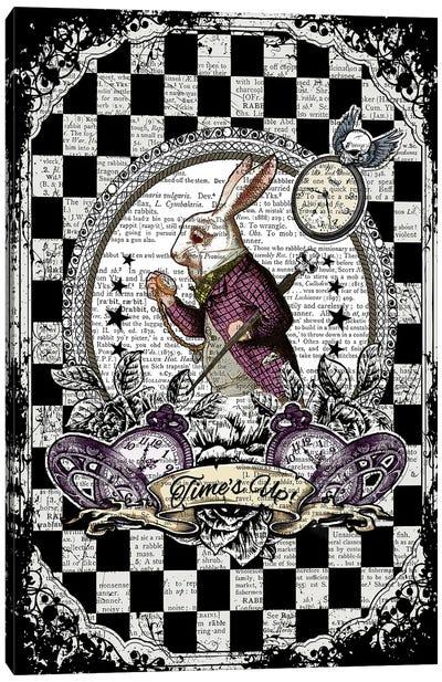 Alice In Wonderland ''White Rabbit / Time's Up'' Canvas Art Print