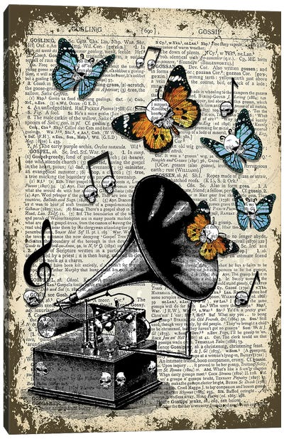 Gothic Gramophone Canvas Art Print