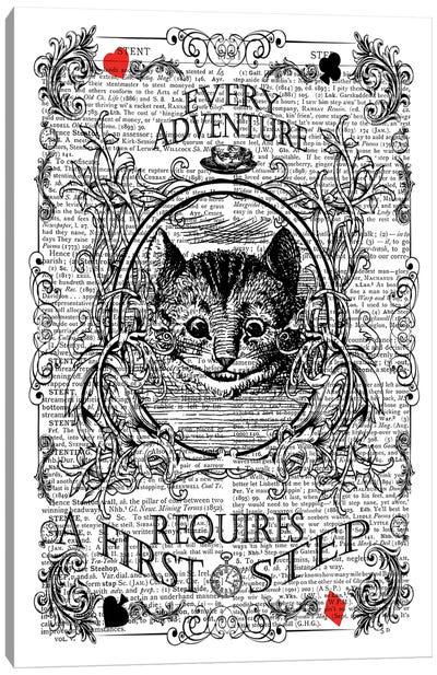 Alice In Wonderland ''First Step'' Canvas Art Print