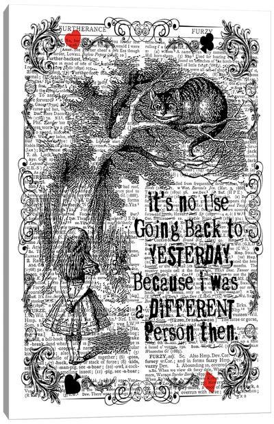 Alice In Wonderland ''It's No Use...'' Canvas Art Print