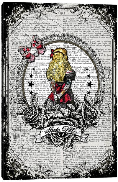 Alice In Wonderland ''Ink Me'' Canvas Art Print