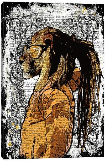 Dreadlocks Lion Canvas Art Print