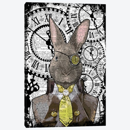 Steampunk Rabbit Canvas Print #ITF97} by In the Frame Shop Canvas Wall Art