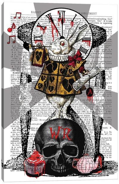 Gothic White Rabbit Canvas Art Print