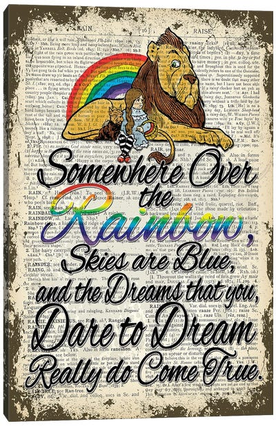 Wizard Of Oz ''Over The Rainbow'' Canvas Art Print