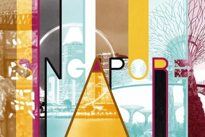 Fusion Of Cultures Singapore Art Print By 5by5collective