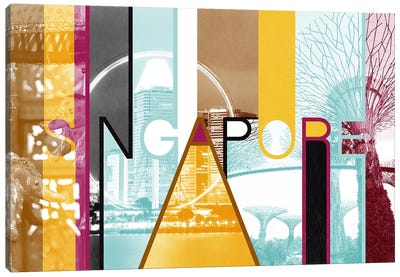 Fusion of Cultures - Singapore Canvas Art Print