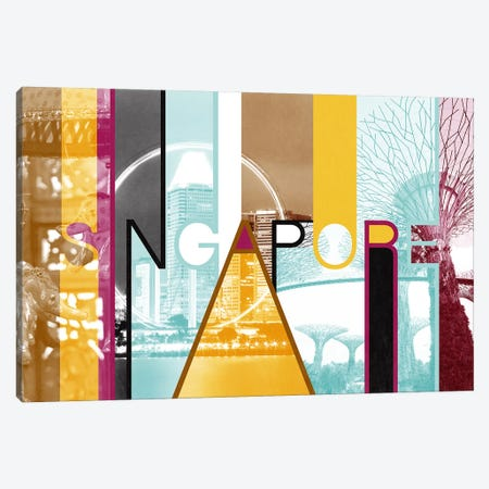 Fusion of Cultures - Singapore 3-Piece Canvas #ITT10} by 5by5collective Canvas Art Print