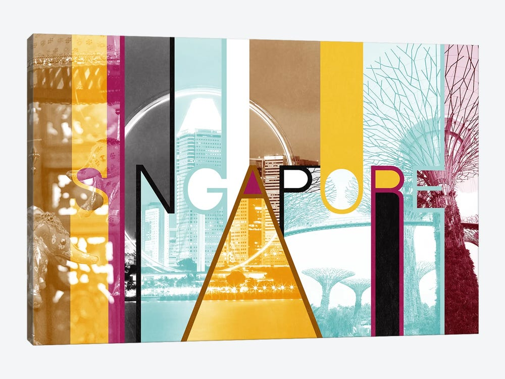 Fusion of Cultures - Singapore by 5by5collective 1-piece Canvas Artwork
