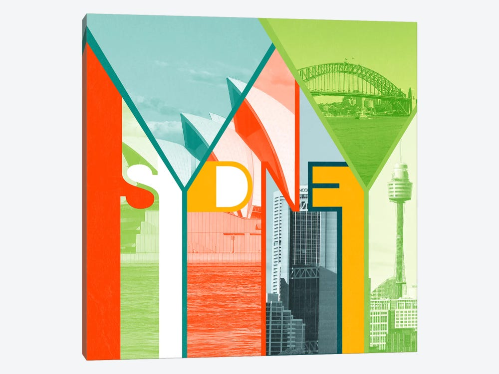 The Harbour City - Sydney by 5by5collective 1-piece Art Print