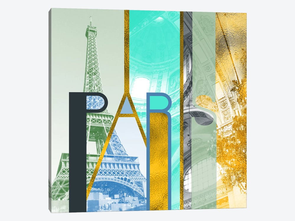 The Fariy City of Inspiration Gold Edition - Paris by 5by5collective 1-piece Canvas Artwork