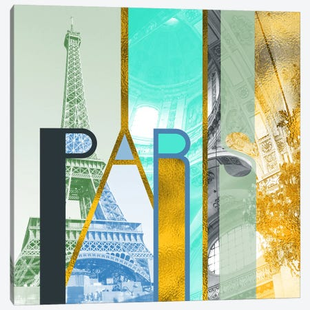 The Fariy City of Inspiration Gold Edition - Paris Canvas Print #ITT16} by 5by5collective Canvas Artwork