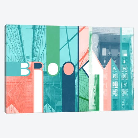 The Breuckelen Borough - Brooklyn Canvas Print #ITT1} by 5by5collective Canvas Art