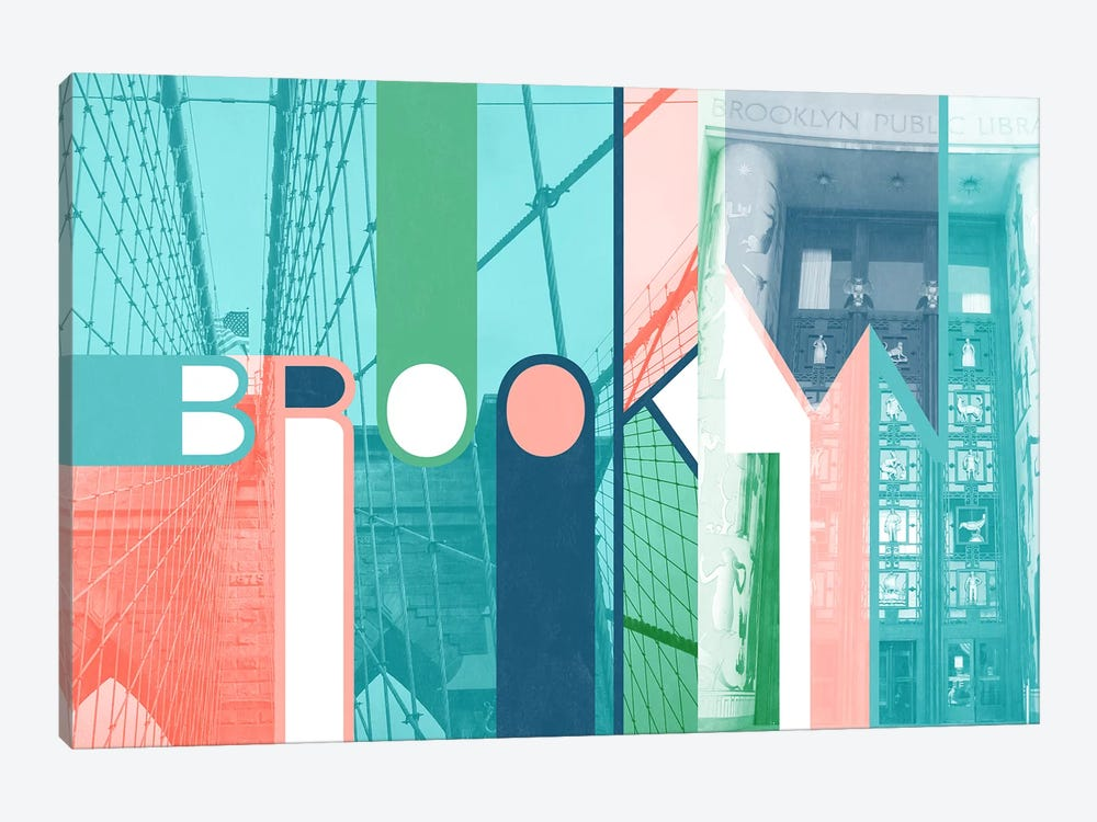 The Breuckelen Borough - Brooklyn by 5by5collective 1-piece Canvas Print