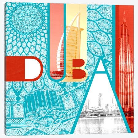 Fragment of the Seven Emirates - Dubai Canvas Print #ITT2} by 5by5collective Canvas Art