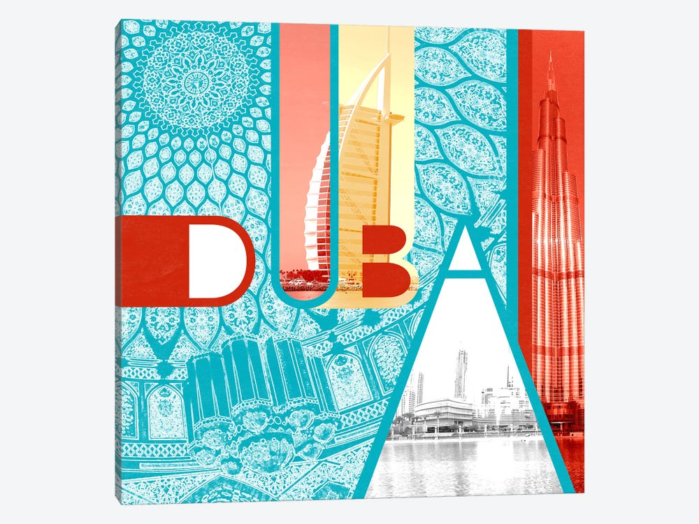 Fragment of the Seven Emirates - Dubai by 5by5collective 1-piece Canvas Art
