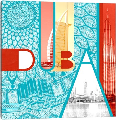 Fragment of the Seven Emirates - Dubai Canvas Art Print