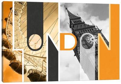 The Capital of Two Sectors Orange - London Canvas Art Print