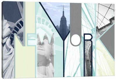 The Urban Jungle of Architectural Delights - New York Canvas Art Print