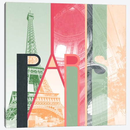 The Fairy City of Inspiration - Paris Canvas Print #ITT7} by 5by5collective Art Print