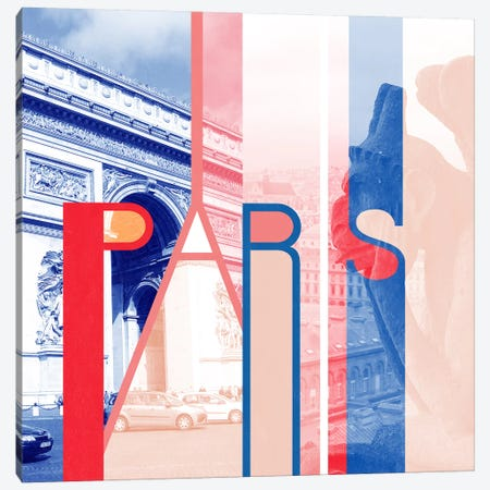 The Fairy City of Art - Paris Canvas Print #ITT8} by 5by5collective Canvas Artwork