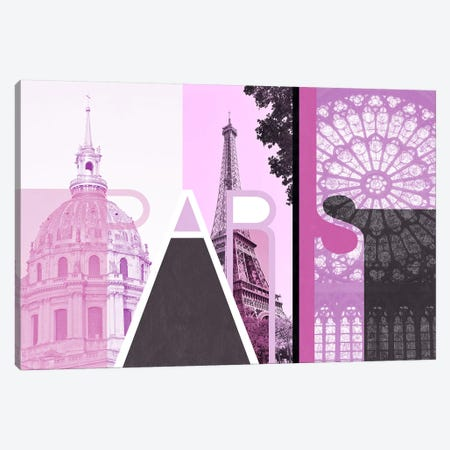 The Fairy City of Love - Paris Canvas Print #ITT9} by 5by5collective Canvas Artwork