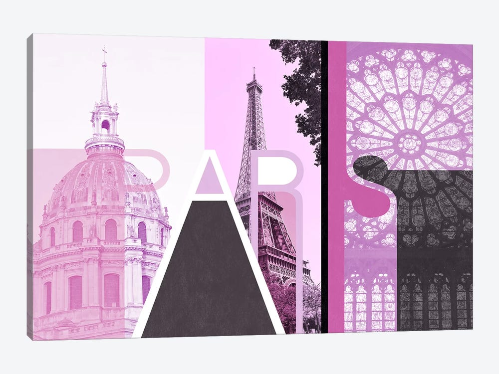 The Fairy City of Love - Paris by 5by5collective 1-piece Canvas Art Print