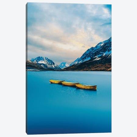 Yellow Canoe On The Lake Canvas Print #IVG104} by Ievgeniia Bidiuk Canvas Artwork