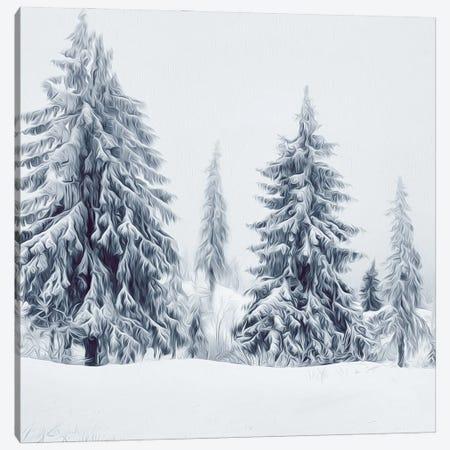 Christmas Trees Canvas Print #IVG120} by Ievgeniia Bidiuk Art Print