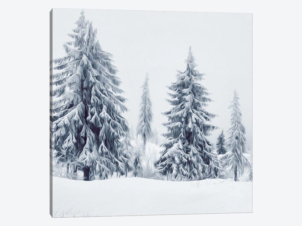 Christmas Trees by Ievgeniia Bidiuk 1-piece Canvas Art Print