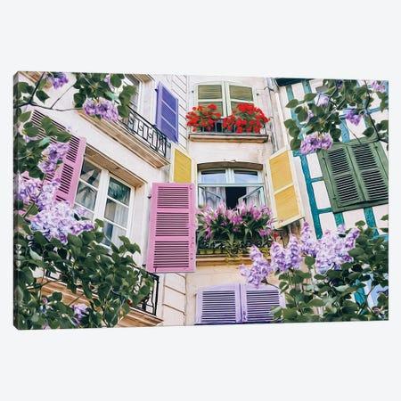 Blooming Lilacs Canvas Print #IVG181} by Ievgeniia Bidiuk Art Print