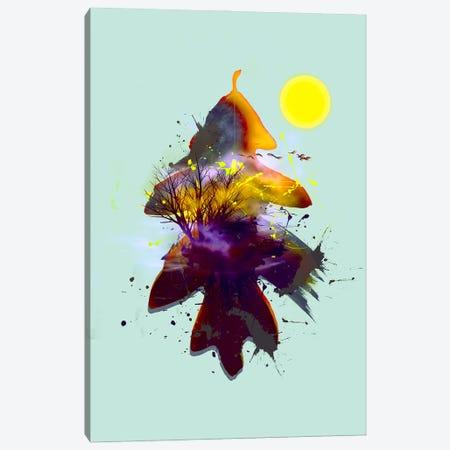 Abstract Landscape On The Background Of An Oak Leaf Canvas Print #IVG204} by Ievgeniia Bidiuk Canvas Art Print