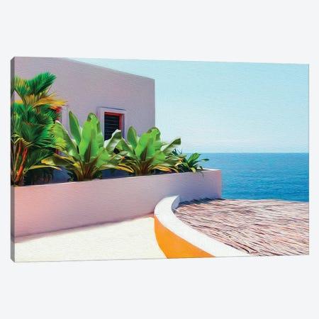 Modern House On A Tropical Island, Ocean View Canvas Print #IVG270} by Ievgeniia Bidiuk Canvas Art Print