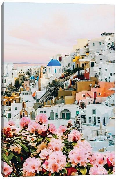 Blooming Azalea On The City Greece Canvas Art Print