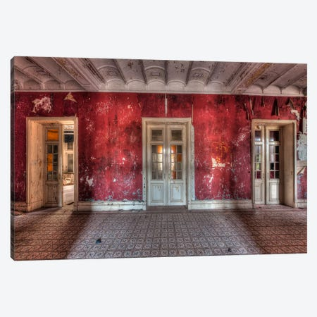Hotel Rouge II Canvas Print #IVO18} by Ivo Sneeuw Art Print