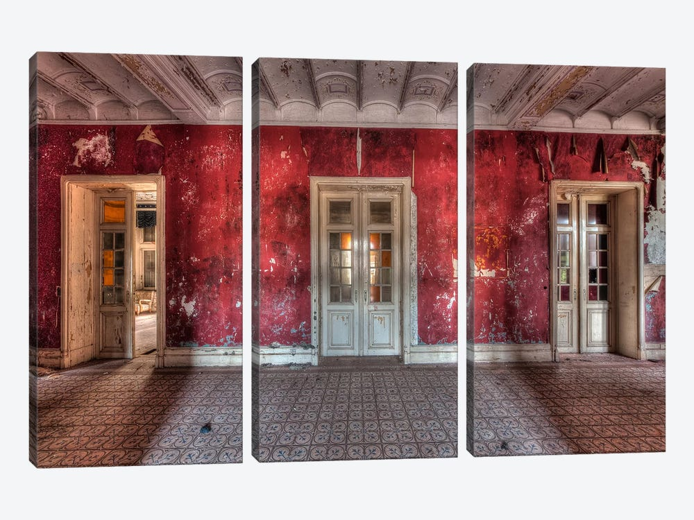 Hotel Rouge II by Ivo Sneeuw 3-piece Canvas Artwork