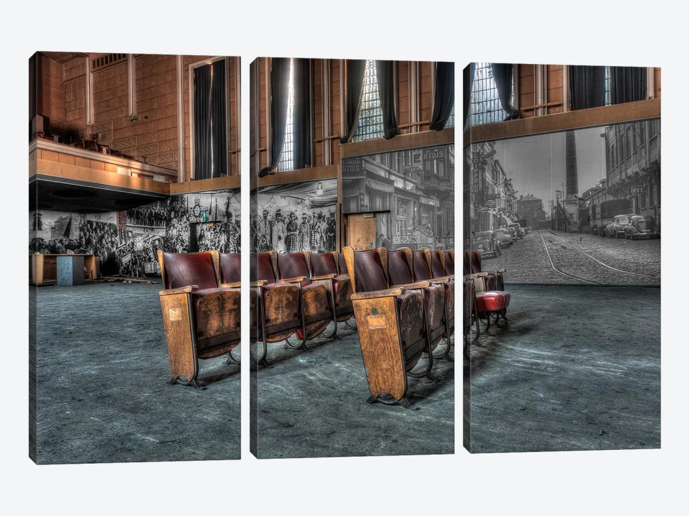 Theater Jeusette by Ivo Sneeuw 3-piece Canvas Artwork