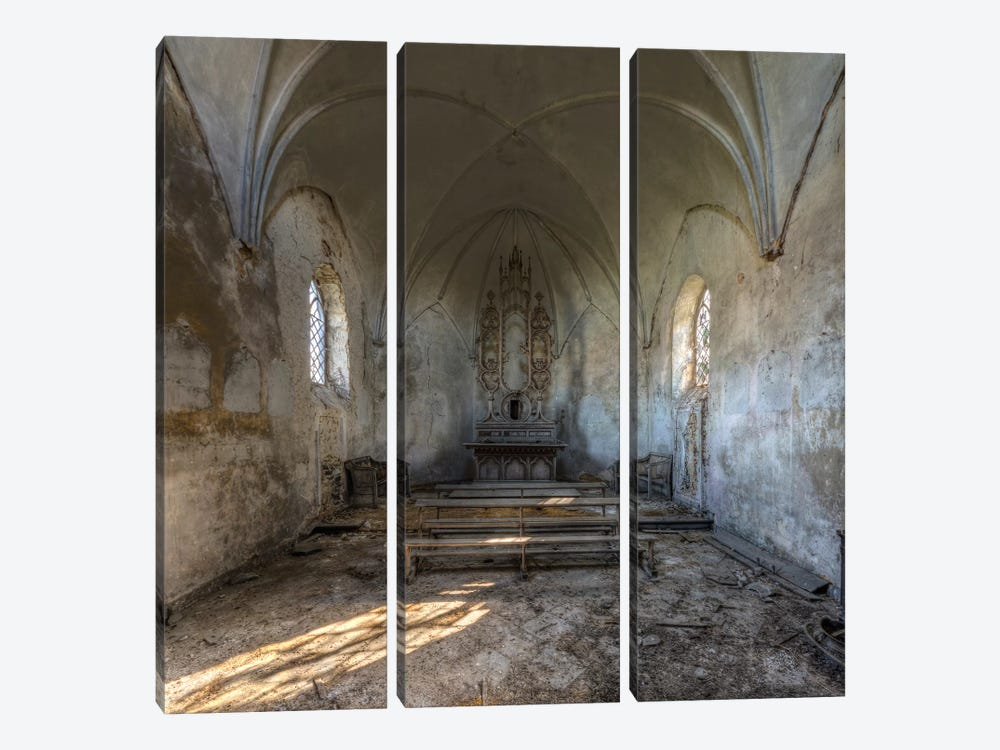 Chapel de la Meuse I by Ivo Sneeuw 3-piece Canvas Art