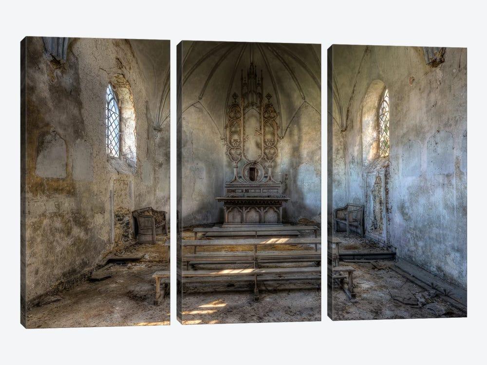 Chapel de la Meuse III by Ivo Sneeuw 3-piece Canvas Wall Art