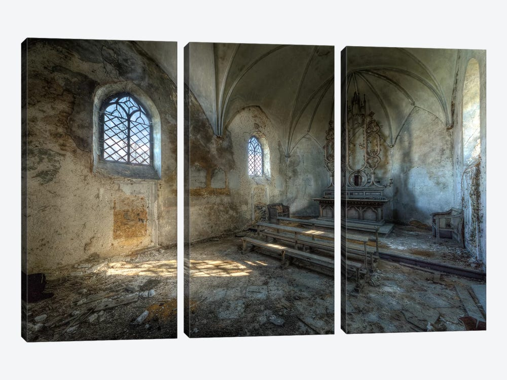 Chapel de la Meuse VI by Ivo Sneeuw 3-piece Art Print