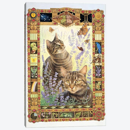 Gemini - Christie And Zelly Canvas Print #IVR15} by Ivory Cats Art Print