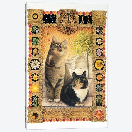 Leo - Octopussy And Motley Canvas Print #IVR22} by Ivory Cats Art Print