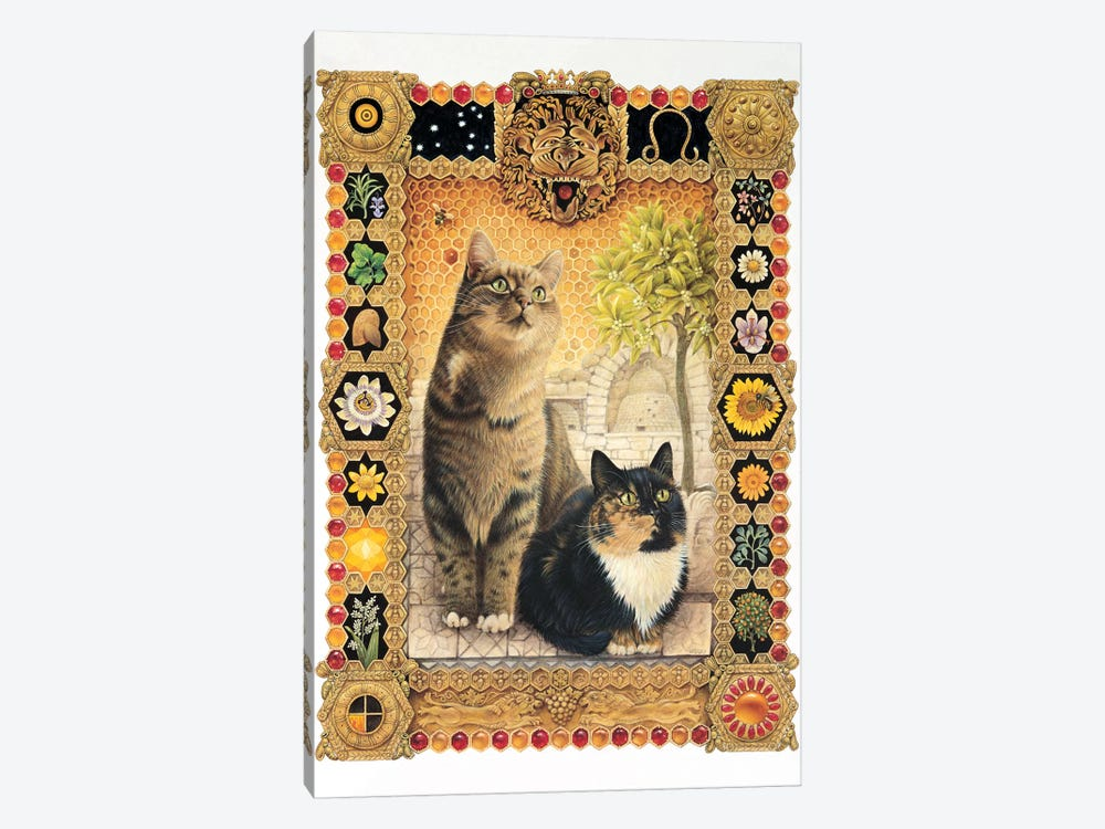 Leo - Octopussy And Motley by Ivory Cats 1-piece Canvas Print