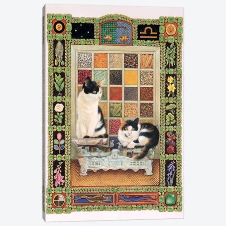 Libra - Clea And Lily Canvas Print #IVR23} by Ivory Cats Canvas Print