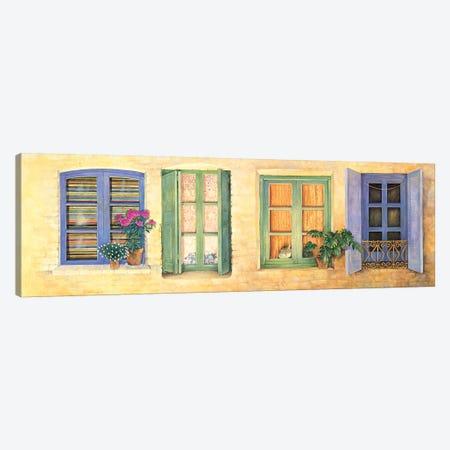 Mediterranean Windows Canvas Print #IVR26} by Ivory Cats Canvas Wall Art