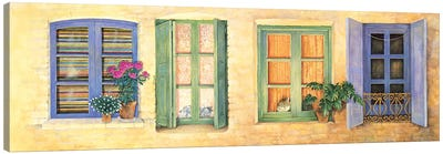 Mediterranean Windows Canvas Art Print