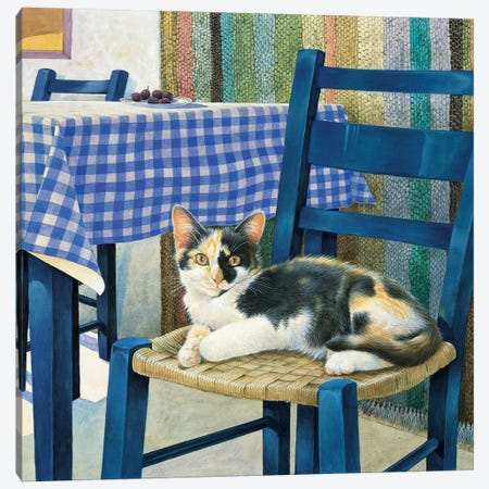 Mikado On A Chair Canvas Print #IVR28} by Ivory Cats Art Print