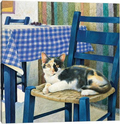 Mikado On A Chair Canvas Art Print