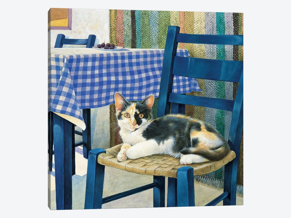 Mikado On A Chair by Ivory Cats 1-piece Canvas Print