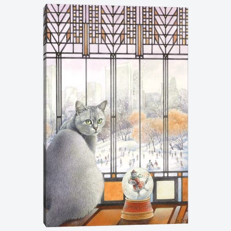 New Year With Mumu Canvas Print #IVR36} by Ivory cats Canvas Art Print